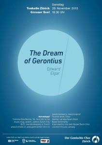 Konzertplakat November 2015: E. Elgar - the Dream of Gerontius