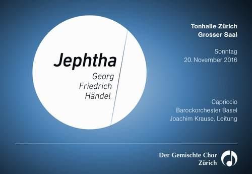 Konzertplakat Jephtha von Händel, 20. November 2016